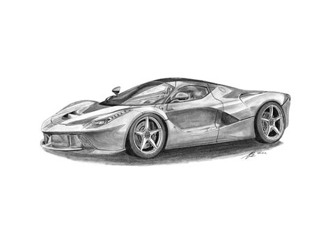 ferrari laferrari sketch ferrari laferrari drawing by gabor vida