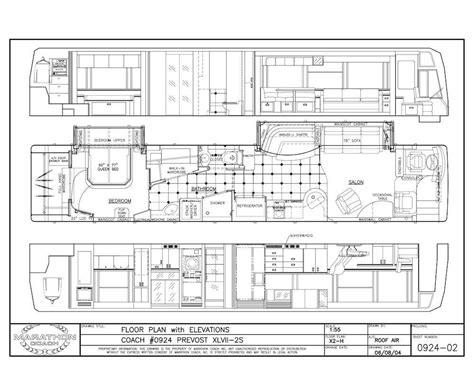prevost floor plans 2006 prevost marathon xliidouble slide m7150