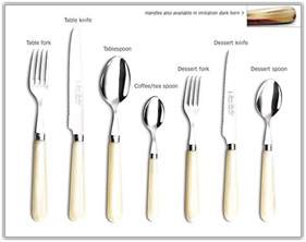 Names Of Kitchen Knives cutlery setting dinner table home design ideas