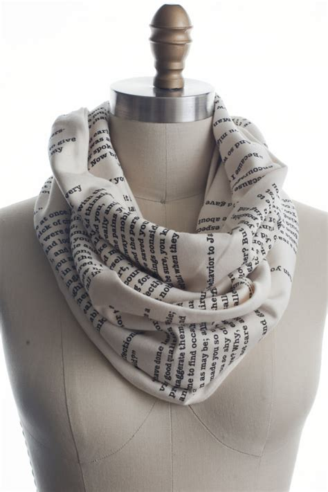 pride and prejudice book scarf by storiarts on etsy