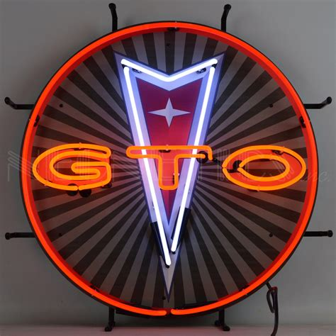 Gto Pontiac Emblem Neon Sign  Retro Planet