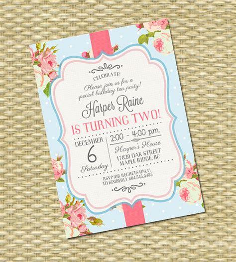 first birthday invitation shabby chic 1st birthday tea party