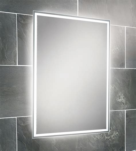 led lit bathroom mirrors hib ella steam free led back lit bathroom mirror 700 x 500mm