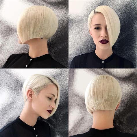 asymmetric blond bob beautiful bobs   short hair