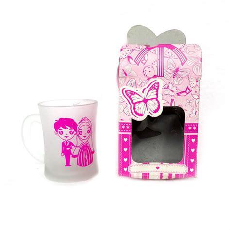 Souvenir Pernikahan Gelas Doff souvenir gelas jk doff box kertas pusaka dunia