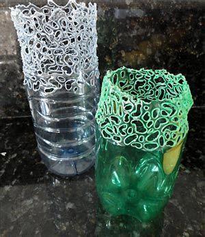 floreros bellos recicla una botella y fabrica un bello florero craft