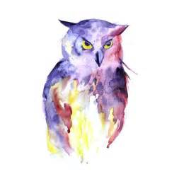 water color owl owl watercolor painting in many forms