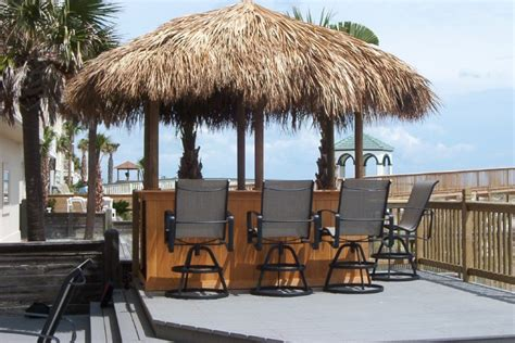 Tiki Bar Hut For by Custom Made Palm Trees Economical Tiki Huts Bars
