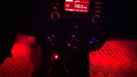 red ledglow lights interior kia forte koup youtube