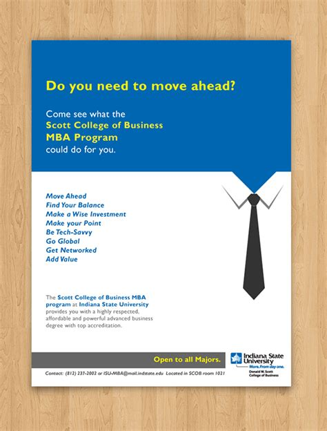 Mba Poster by College Of Business Mba On Behance