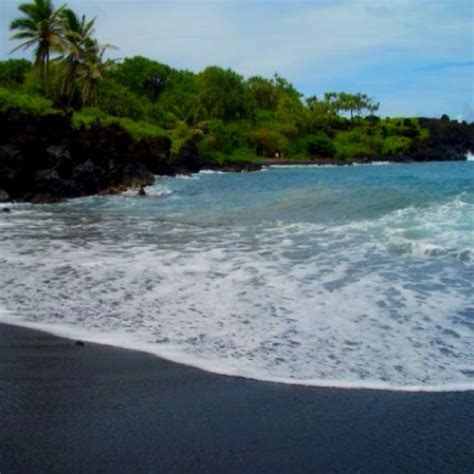black sand beaches maui hana maui black sand beach favorite places spaces
