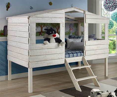 twin size loft bed twin size tree house low loft bed in rustic sand finish