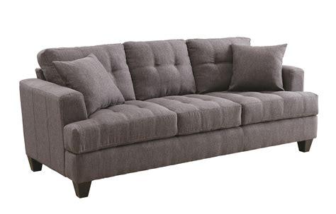 coaster samuel sofa coaster samuel sofa sofa with tufted cushions home furniture sofas