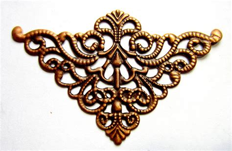 filigree for jewelry 10 filigree jewelry wraps antique copper medallion