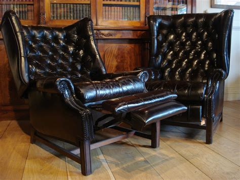library couch sold 20c reclining leather library chairs antique recent