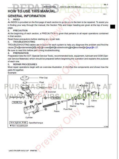 download car manuals pdf free 2004 toyota land cruiser parental controls toyota land cruiser station wagon pdf manuals download