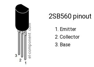 2sb560 p n p transistor complementary npn replacement