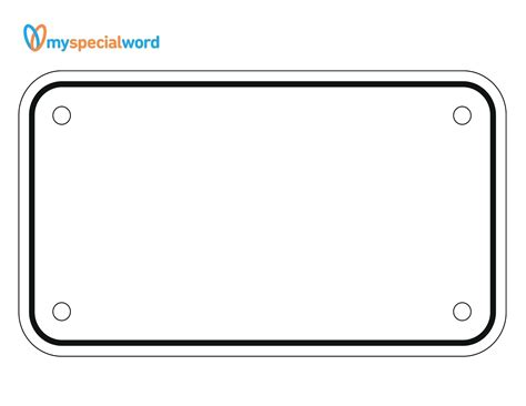 Template License Plate Template Printable Printable License Plate Template