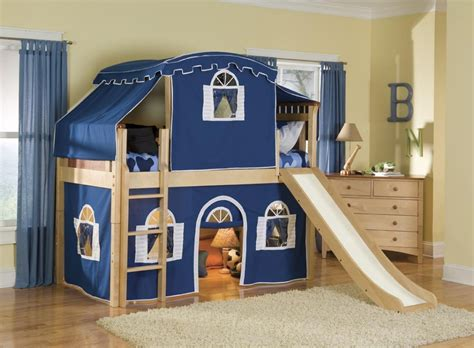 Kids Bunk Beds With Stairs And Desk Optional Tent Tower And Slide Loft Bed Warmojo Com