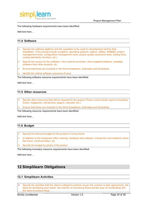project management plan template for project standard 2013 project