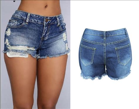 Sale Branded Hotpants Ripped Murah On The Rock denim shorts ripped kurly kurly