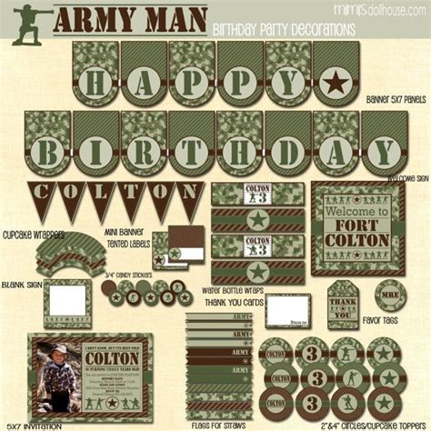 free printable army party decorations pinterest discover and save creative ideas