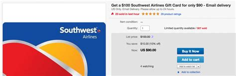 Southwest Gift Card For Sale - last day save big with the southwest sale gift card sale combo running with miles