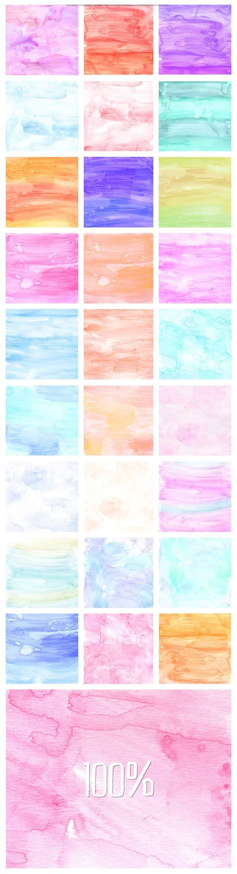 Watercolor On Handmade Paper - a versatile collection of 33 free handmade digital