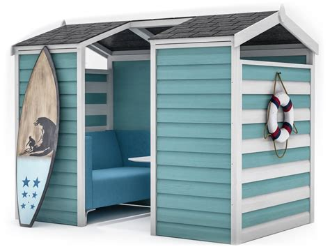 huddle beach themed shed acoustic meeting pod