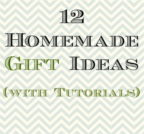 Handmade Wedding Gift Ideas - 12 gift ideas with tutorials