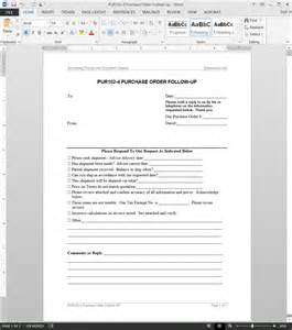 purchase order follow up request template
