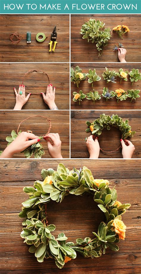 How To Make A Flower Crown With Paper - how to make a flower crown the crafted