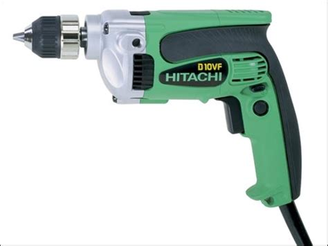 Drill 10 Mm D 10vst Hitachi hitachi d10vf rotary drill 10mm 240 volt hitd10vf