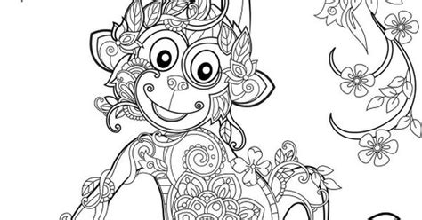 monkey coloring pages for adults monkey coloriage mandala pinterest monkey adult