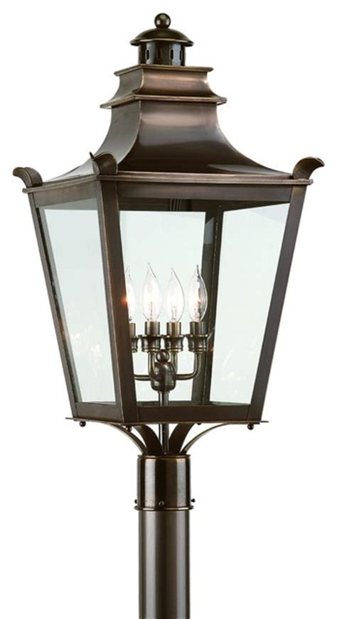 Outdoor Lighting Standards 4 Light Standard Bulb Outdoor Post L Bronze Traditional Post Lights By