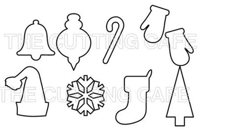 printable holiday shapes printable christmas cutouts