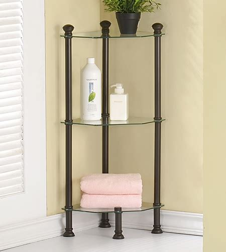 Small Corner Shelves For Bathroom Small Corner Etagere In Bathroom Shelves