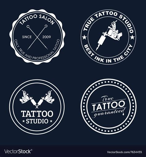 magic tattoo logo vector set tattoo logos of different styles royalty free vector