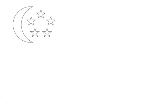 Singapore Flag Coloring Page world flags coloring sheets 7