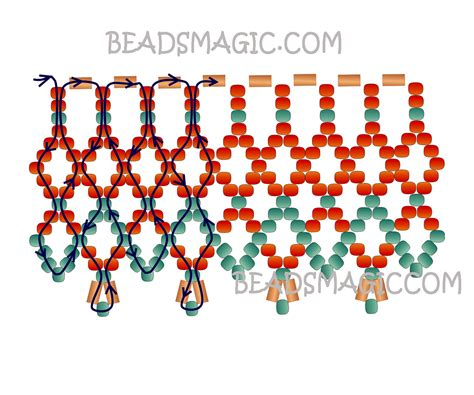 pattern magic tutorial free pattern for necklace bronze lace beads magic