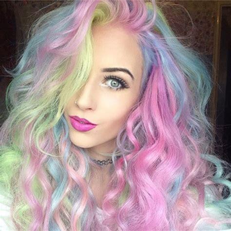 pastel rainbow hair rainbow hair color ideas for 2016 hairstyle ideas