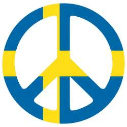 Sweden peace symbol flag 3 cnd logo peacesymbol org scalable