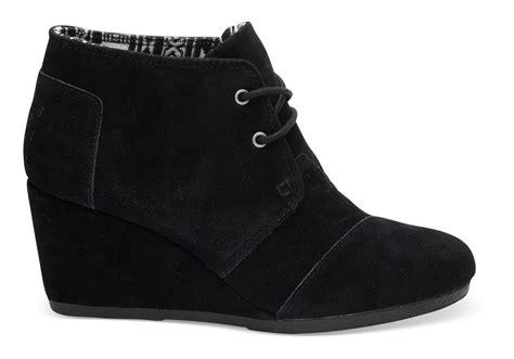 toms high heel wedges black suede s desert wedges toms 174