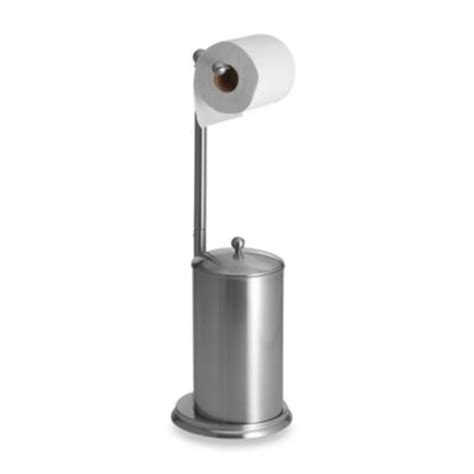 Free Standing Toilet Paper Holder With Storage by Buy Standing Toilet Holder From Bed Bath Amp Beyond