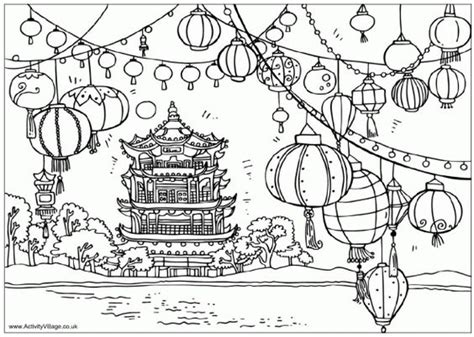new year lantern colouring festival of the lanterns new year colouring