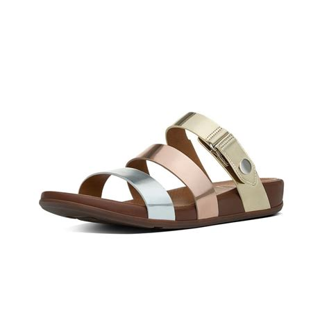 slide sandals fitflop gladdie leather slide sandals fitflop