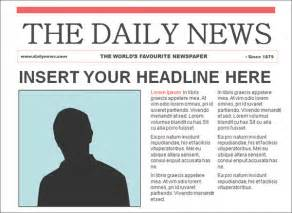 How To Make A News Paper - newspaper template 42 free documents in pdf