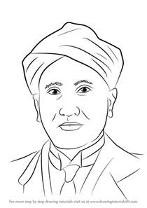 learn draw cv raman step step drawing tutorials