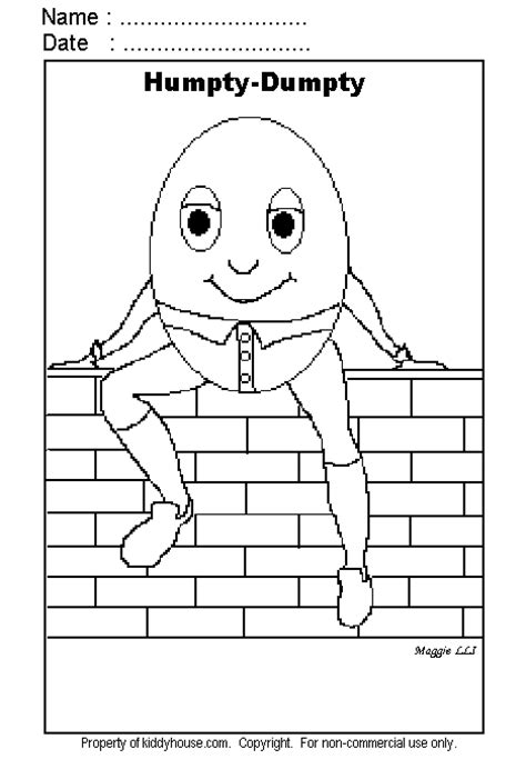 humpty dumpty coloring 1