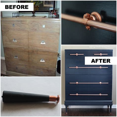 diy copper drawer pulls diy copper pipe drawer pulls mountainmodernlife